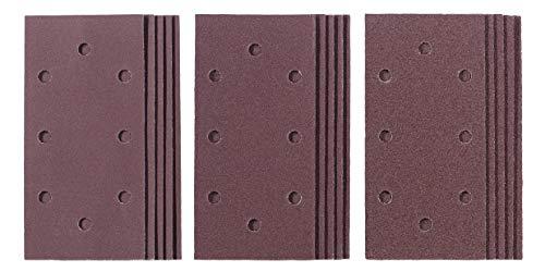 kwb by Einhell 15-tlg. Q-Stick Schleifpapier Set Schwingschleifer-Zubehör (15x Schleifpapier, 187x93 mm, Körnung 5x 60 / 5x 120 / 5x 180, Quick-Stick)