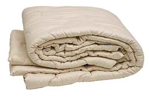 Sleep & Beyond 100 by 86-Inch Organic Merino Wool Comforter, King, Ivory