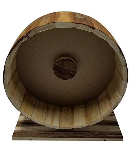 Dehner Nagerzubehör Holzlaufrad Shift, ca. 29 x 14 x 31 cm, Holz, natur