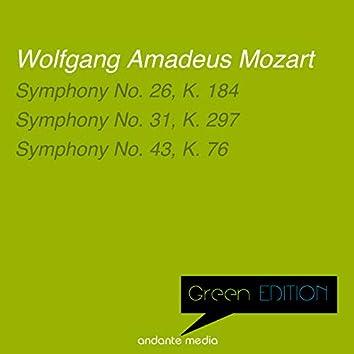 Green Edition - Mozart: Symphonies Nos. 26, 31 & 43