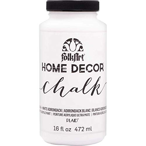 FolkArt Home Decor Chalk Furniture & Craft Paint in Assorted Colors, 16 ounce, White Adirondack,34846
