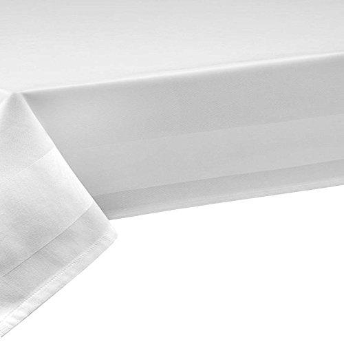 100% Baumwolle Damast Tischdecke Sondergröße 160x 260 cm Weiß Eckig Länge wählbar