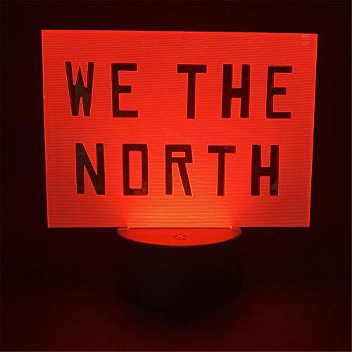 Luz de noche LED 3D para niños WE The North Illusion Mood Lámpara de 16 colores de control táctil para decoración del hogar, regalo de cumpleaños de Navidad