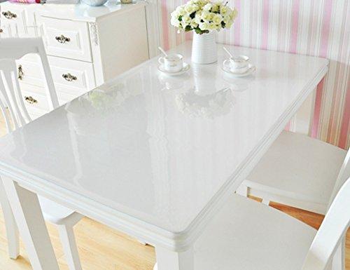 Nappes PVC Cristal Plaque Imperméable À l'huile Résistant À Hautes Températures Table À Thé Mat en Plastique Transparente (Couleur : Thickness -1.5mm, Taille : 80 * 100cm)