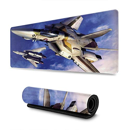 TUKAPOKA Gaming Mouse Pad Macross Frontier XXL XL Large Mouse Pad Mat Long Extended Mousepad Desk Pad Non-Slip Rubber Mice Pads Stitched Edges Pad (31.5x11.8x0.1 Inch)