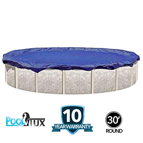 PoolTux 30-Foot Round Winter Pool Cover for Round Above Ground Swimming Pools