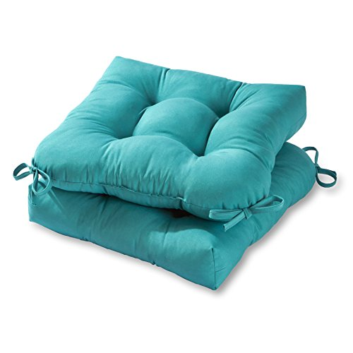 Greendale Home Fashions 20-inch Outdoor Chair Cushion (set of 2), Teal