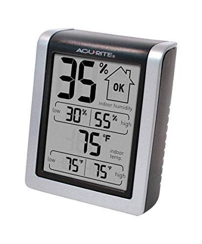 AcuRite 00613 Digital Hygrometer & Indoor Thermometer Pre-Calibrated Humidity Gauge, 3' H x 2.5' W x...