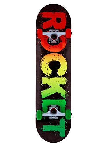 Rocket Complete Rasta Fade Skateboard, Unisex, Erwachsene, Mehrfarbig, 8 Zoll