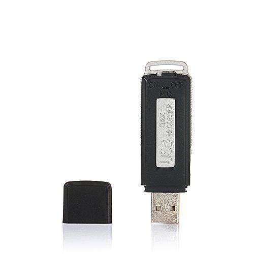 KOBERT GOODS USB-Stick mit Voice-Recorder (SK-868) –Digitales Aufnahmegerät mit 8GB Speicher für verdeckte Audioaufnahmen Soundaufnahmen oder als Diktiergerät nutzbar – bis zu 96 Std. Daueraufnahmen