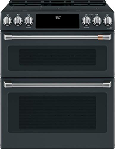 Find Discount Cafe CHS950P3MD1 30 Inch Induction Slide-in Electric Range in Matte Black