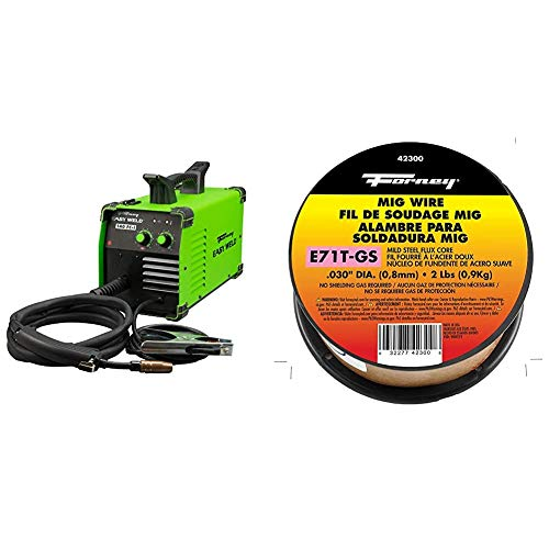 Forney Easy Weld 261, 140 FC-i MIG Welder, 120V, Green & 42300 Flux Core Mig Wire, Mild Steel E71TGS.030-Diameter, 2-Pound Spool