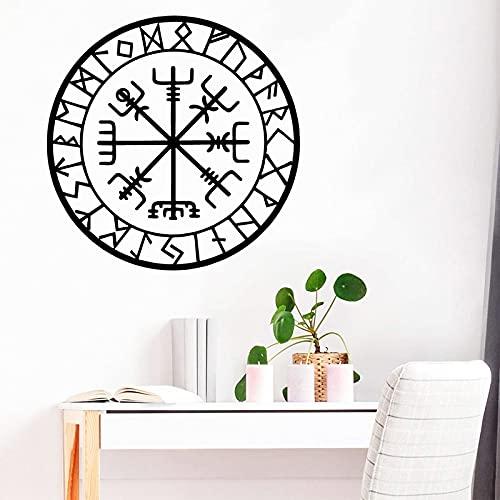 Brújula pegatinas de pared ubicación creativa marca logo calcomanías calcomanías retro dormitorio sala de estar decoración pegatinas de pared otro color 42x42 cm