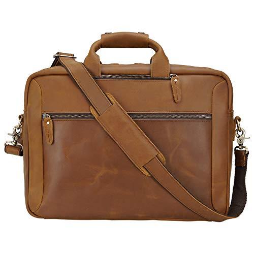 Tiding Convertible Rucksack Messenger Bag Leder 43,2 cm Laptop Aktentasche Schultertasche Hellbraun Hellbraun for 17 inch Laptop