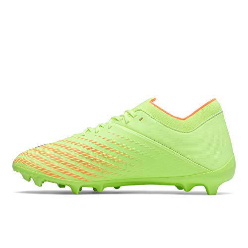 New Balance Men's Furon Dispatch FG V7 Soccer Shoe, Bleached Lime Glo/Citrus Punch, 12 Wide