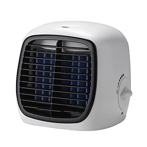 QQYY Refrigerador de Aire evaporativo, refrigerador Personal y Control Remoto Mini operación portátil Aire acondicionador de Aire Mute Mute White