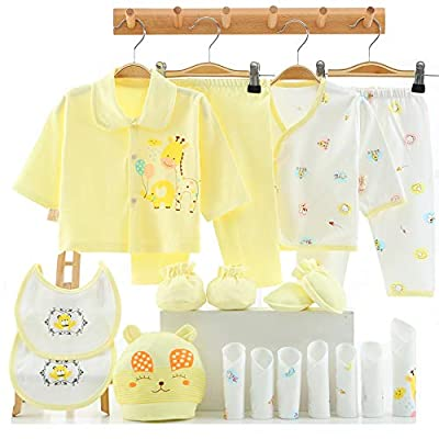 18PCS Newborn Girl Clothes Baby Outfit 0 3 Months Pants Layette Gift Set Yellow