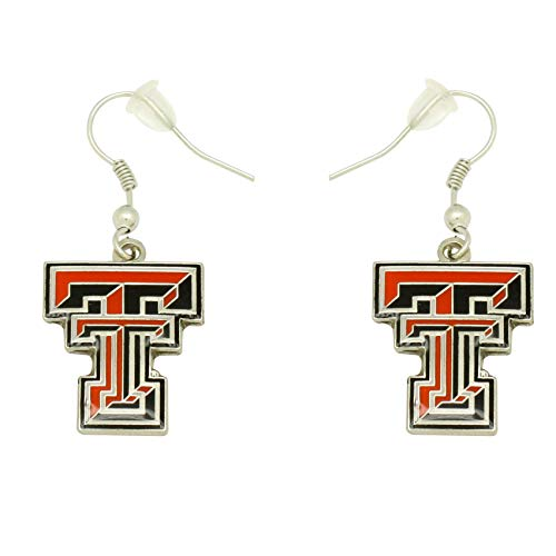 aminco NCAA Dangler Earrings, Texas Tech Red Raiders