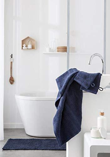 Today Maxi Drap Bain, 100% Coton, Bleu Marine, 150x90 cm