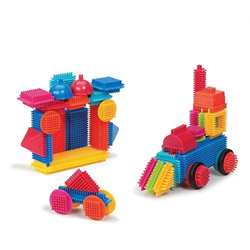 Bristle Blocks 10126478 Bausteine Zum Stecken, 50 Teile Im Eimer, mehrfarbig