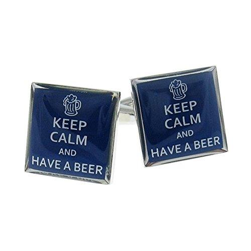 Procuffs Manschettenknöpfe mit Aufschrift Keep Calm and Have A Beer