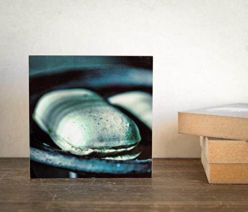 Seife Vintage Seifenschale in einer Zeche Lost Place Foto auf Holz, im Quadrat, 10 x 10 cm