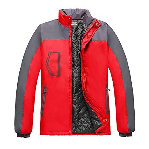 KINDOYO Veste D'extérieur pour Unisexe - Mode Casual Montagne Doux Respirant Imperméable Coupe-Vent Épais Randonnée Manteau, Rouge, EU L=Tag XL