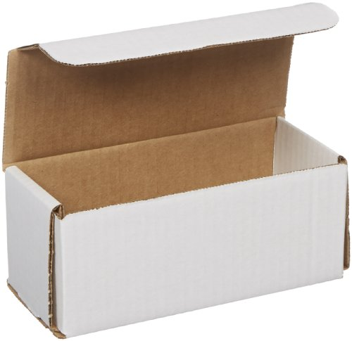Aviditi White Corrugated Cardboard Mailing Boxes, 7 x 3 x 3 Inches, Pack of 50, Crush-Proof, for Shipping, Mailing and Storing