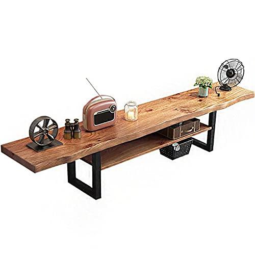 Gabinete de TV de madera maciza de doble capa, mesa de centro de madera moderna y simple, gabinete de piso de dormitorio de apartamento pequeño de estilo europeo, gabinete lateral de la sala de estar