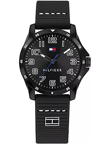 Tommy Hilfiger Unisex Kinder Analoger Quarz Uhr mit Silicone Armband 1791666