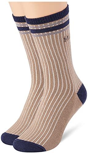 Marc O'Polo Body und Beach Damen Multipack W 2-Pack Klassische Socken, Camel, 39/42
