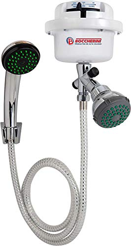BOCCHERINI Electric Instant Hot Water Dual Handheld Shower And Shower head Heater 110V / 120V Tankless, Nickel Metal Finish(Dirigible)