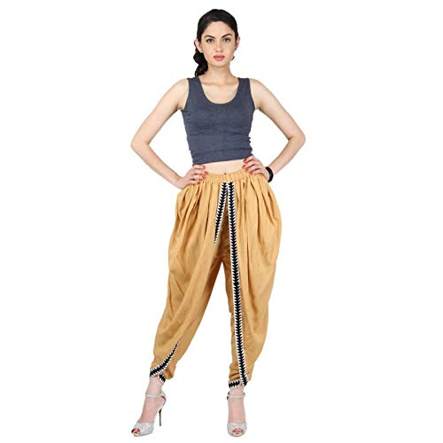 Beige Color Rayon Dhoti Pant, Dhoti Salwar, Patiala Dhoti Pant for Women/Girls