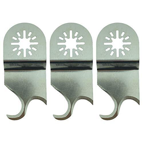 TopsTools UN35SCCA_3 - Juego de 3 cuchillas de fieltro para Bosch Fein (no StarLock) Makita Milwaukee Einhell Ergotools Hitachi Parkside Ryobi Worx Workzone