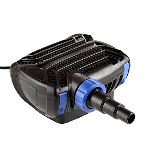 TRUPOW 2000GPH Waterfall Salt Fresh Submersible Electric Frequency Aquarium Fish Garden Pond Silent Filter Water Pump