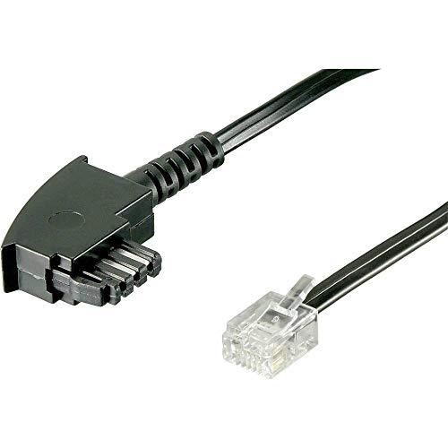 Cable DSL Basetech [1 enchufe TAE-F – 1 enchufe RJ12 6p6c] 6,00 m negro