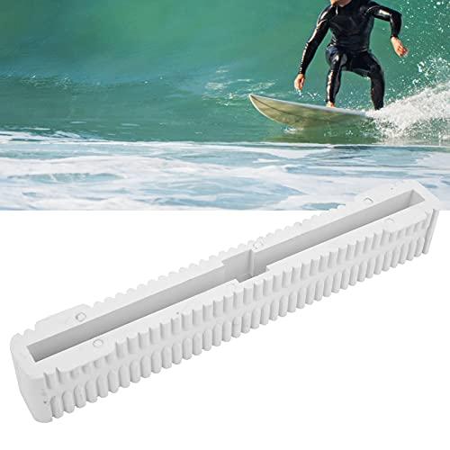 minifinker Caja de Aletas, Tabla de Surf portátil Caja de Aletas Paleta para Tablas de Surf de una Sola Aleta para Tablas de Surf(White)