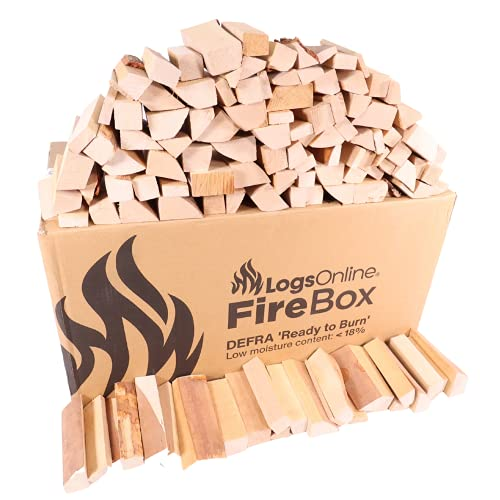 Logs Online (8kg) Kiln Dried Birch Mini Hardwood Kindling Logs (5 inch) for Portable Pizza Oven. Safe Fire Log for Burning & Cooking in Outdoor Wood Burner Stove.