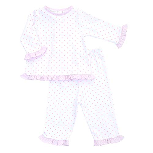 Magnolia Baby Baby Girl Gingham Dots Essentials Ruffle 2pc Pant Set Pink 12 Months