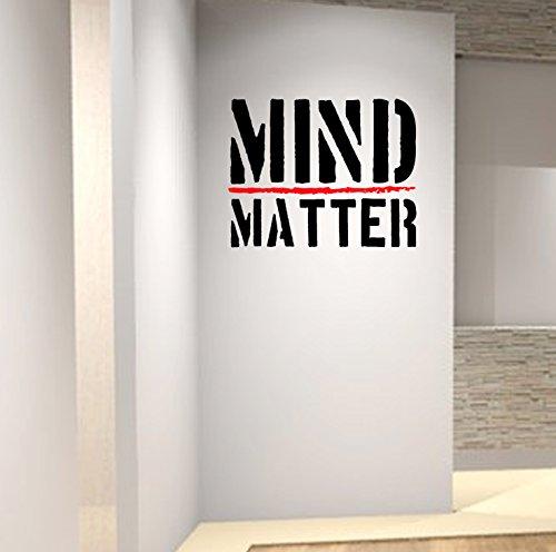 Designdivil Wall Art Mind Over Matter. Premium Motivation Autocollant Mural.