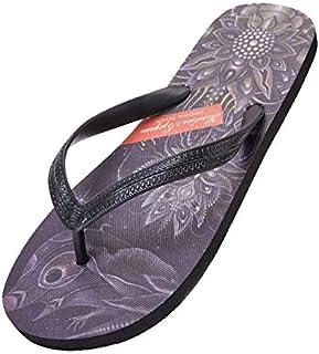 WXFF Chancletas de Moda para Hombre de Verano Zapatillas de Playa Planas pintadas a Mano Zapatillas Antideslizantes de tótem con Punta de Dedo Totem (Color : Purple, Size : 41)