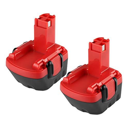 POWER-XWT 2PCS 12V 3,0Ah Ni-MH Ersatzakku für Bosch Akku GSR12 VE-2 PAG 12v PSB 12VE-2 PSR 12VE-2 PSR 12VE-2 12V Bosch 12V Ersatz Werkzeuge