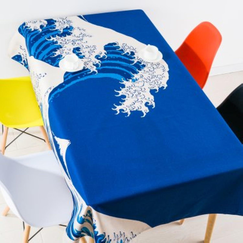 blueeELSS Cartoon Cat Bedruckte Baumwolle Leinen Tischdecke Abdeckungen für Home Decoration Outdoor Pastorale Tischdecke toalha de mesacolor 4180 x 140 cm