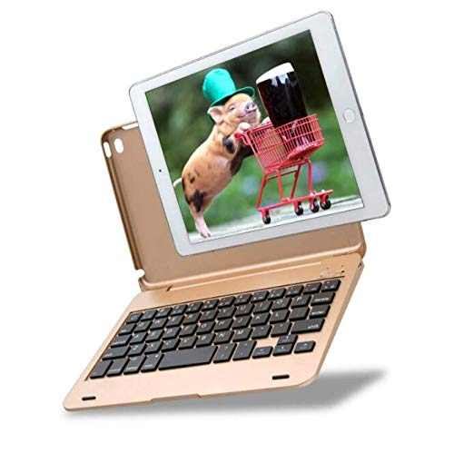 WLWLEO tabletbehuizing met Bluetooth-toetsenbord, draadloos toetsenbord ultradun voor iPad mini4