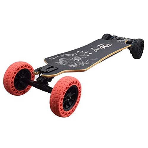Skateboard Eléctrico Todoterreno 40km/h Alcance de 20km Motor Dual de 1200W Control Remoto de 2,4GHz, Neumático Todo Terreno de 6' Longboard Eléctrico de Montaña para Adultos y Jóvenes
