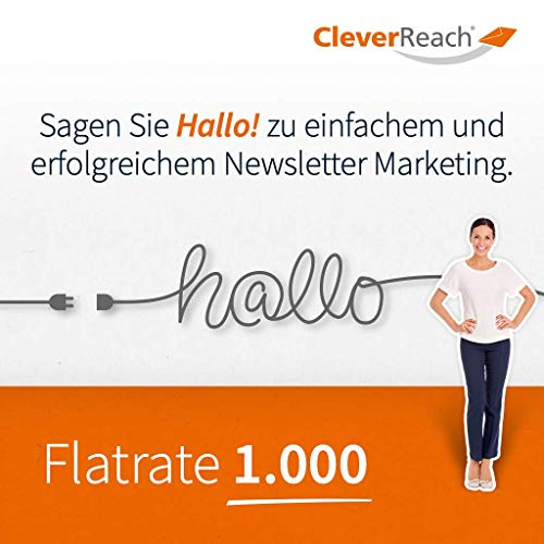 CleverReach Newsletter Software, Email Marketing Automation, Flatrate Tarif 1.000, Web Browser, Monatliches Abonnement