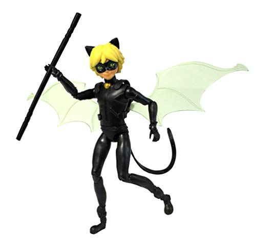 Bandai - Miraculous - Mini-Puppe - Cat Noir - 12cm-Gelenkpuppe & Zubehör - P50403