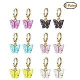 Bestice 6 Pairs Girls Clip-on Earrings Pretend Princess Play Earrings Jewelry Set