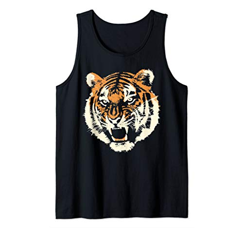 Wild tiger head apparel | Savage angry animal Tank Top
