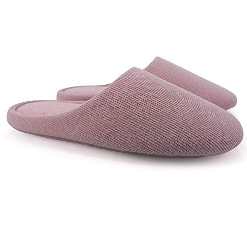 ofoot Pantofole da Donna, Scarpe Antiscivolo in Cotone Lavabile con Memory...